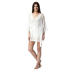 Presence - Ivory lace short wrap