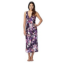 Presence - Purple floral print lace nightdress