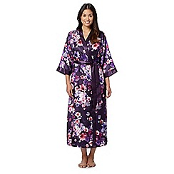 Presence - Purple floral print long wrap
