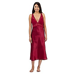 Presence - Dark red lace detail long nightdress