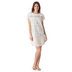 Lounge & Sleep - Cream beach hut striped night dress
