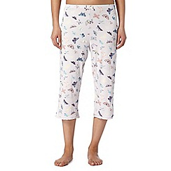 Lounge & Sleep - Pink butterfly print cropped pants