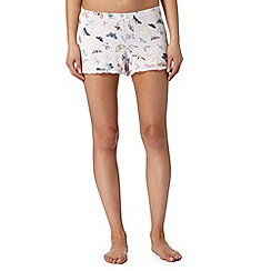 Lounge & Sleep - Pink butterfly print shorts
