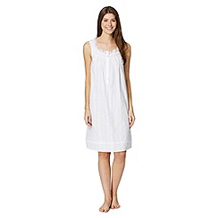 Lounge & Sleep - White sleeveless cotton night dress