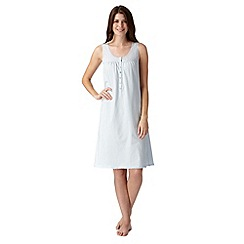 Lounge & Sleep - Pale blue broderie sleeveless nightdress