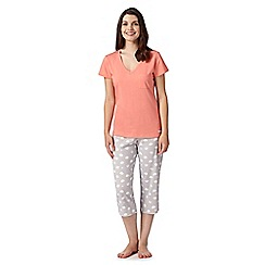 Lounge & Sleep - Orange cloud print pyjama top and bottoms set