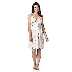 Lounge & Sleep - Cream floral print chemise