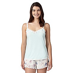Lounge & Sleep - Pale green lace cami