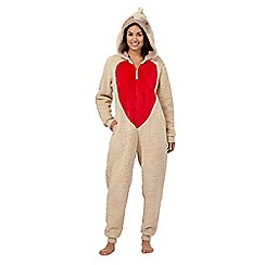 Lounge & Sleep - Brown robin onesie