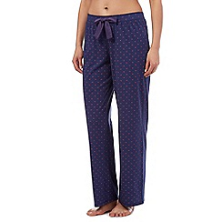 Lounge & Sleep - Navy starred pyjama bottoms