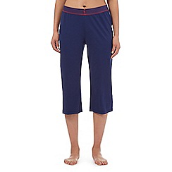 Lounge & Sleep - Petite navy crop pyjama bottoms