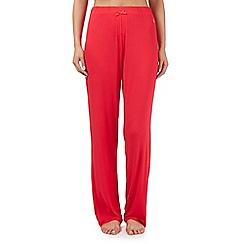 Lounge & Sleep - Red long pyjama bottoms
