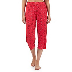 Lounge & Sleep - Red robin print cropped pyjama bottoms