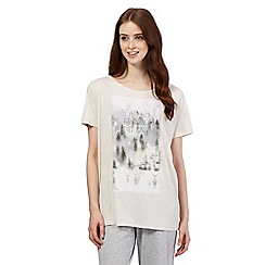 Lounge & Sleep - White 'let it snow' pyjama top