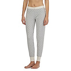 Lounge & Sleep - Tall grey spotted pyjama bottoms
