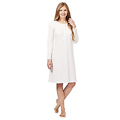 Lounge & Sleep - Cream floral nightdress