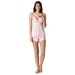 Floozie by Frost French - Light peach padded flamingo cami and shorts pyjama set