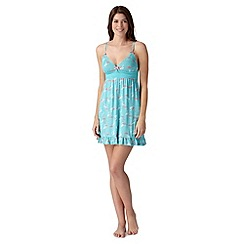 Floozie by Frost French - Turquoise lace flamingo chemise