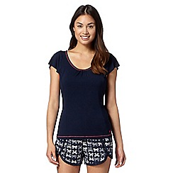 Floozie by Frost French - Navy plain short sleeved pyjama top