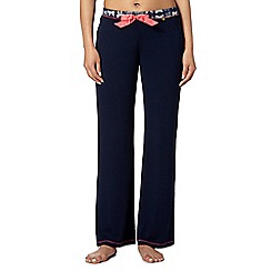 Floozie by Frost French - Navy bow lace pyjama bottoms