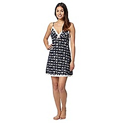 Floozie by Frost French - Navy bow lace trim chemise