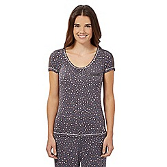 Floozie by Frost French - Dark grey confetti pyjama top