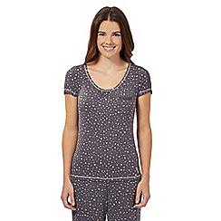 Floozie by Frost French - Dark grey confetti pyjama top