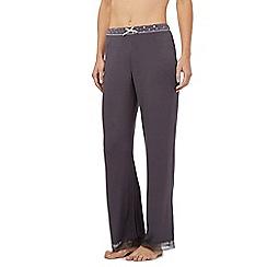 Floozie by Frost French - Dark grey confetti trim pyjama bottoms