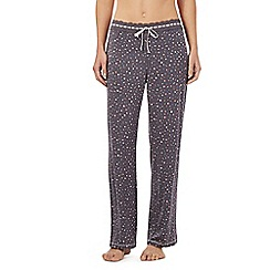 Floozie by Frost French - Dark grey confetti pyjama bottoms