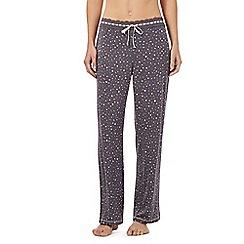 Floozie by Frost French - Dark grey confetti pyjama bottoms