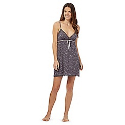 Floozie by Frost French - Dark grey heart lace chemise