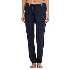 Lounge & Sleep - Navy dragonfly waistband pyjama bottoms