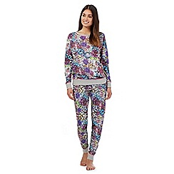 Iris & Edie - Purple ribbon print pyjama set