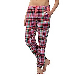 Iris & Edie - Pink checked pyjama bottoms