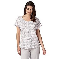 RJR.John Rocha - Designer cream geometric triangle print pyjama top