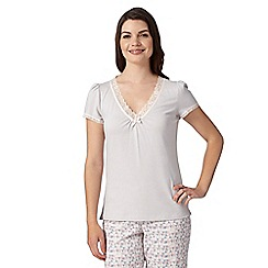 RJR.John Rocha - Designer grey lace V neck pyjama top