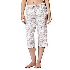 RJR.John Rocha - Designer pink triangle cropped pyjama bottoms