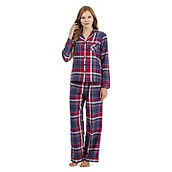 RJR.John Rocha - Dark pink checked pyjama set