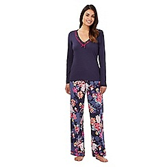 RJR.John Rocha - Purple floral top and bottoms pyjama set