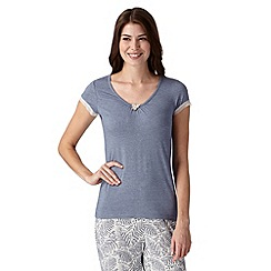 J by Jasper Conran - Designer blue lace trim pyjama top