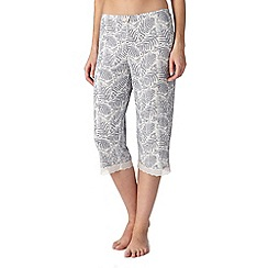 J by Jasper Conran - Designer blue print cropped pyjama bottoms