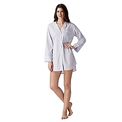 J by Jasper Conran - Designer light blue polka dot long sleeved nightshirt
