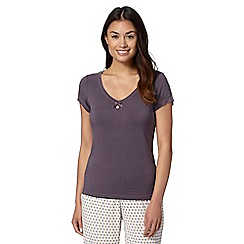 J by Jasper Conran - Designer chocolate V neck short sleeved top