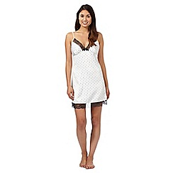 J by Jasper Conran - Ivory spotted line satin chemise