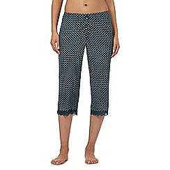 J by Jasper Conran - Green daisy print crop pyjama bottoms