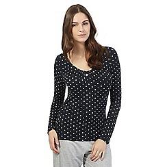 J by Jasper Conran - Near black star print pyjama top