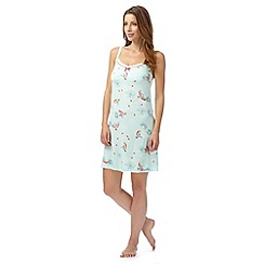 Gorgeous DD+ - Light green bird print chemise