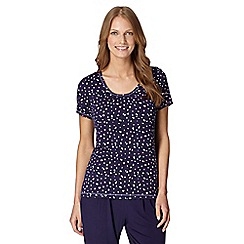 Gorgeous DD+ - Navy spotted DD-G cup hidden support pyjama t-shirt