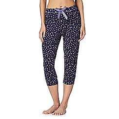 Gorgeous DD+ - Navy spotty cropped pyjama bottoms