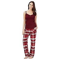 Gorgeous DD+ - Red checked DD-G cami and bottoms pyjama set